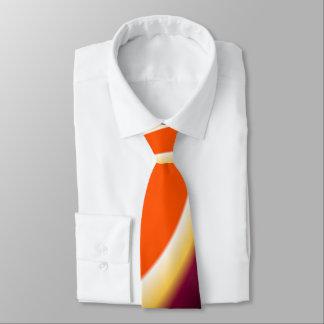 Brown y corbata curvada naranja del diseño