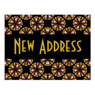 Brown y dirección del amarillo nueva postal
