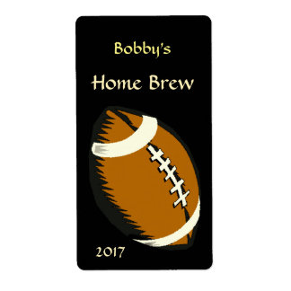 Brown y etiqueta negra de la cerveza de los etiquetas de envío