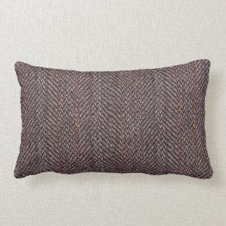 Brown y Lumbar azul de la almohada de tiro de la