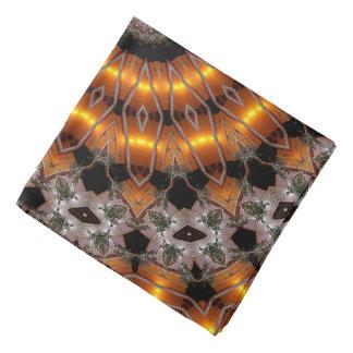 Brown y modelo concéntrico abstracto púrpura bandana