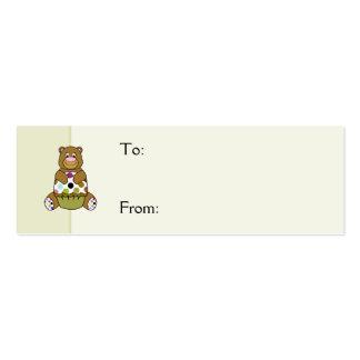 Brown y oso verde de Polkadot Tarjetas De Visita