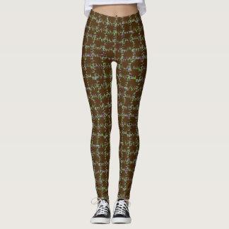 Brown y polainas verdes de Gid Leggings