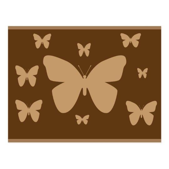 Brown y postal beige de la mariposa