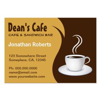 Brown y tarjetas de visita beige del café de la ca