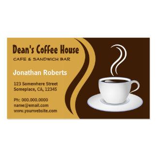 Brown y tarjetas de visita beige del café de la