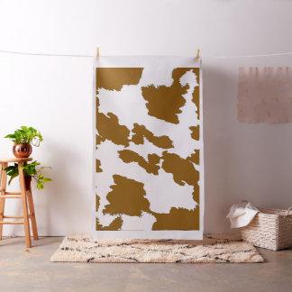 Brown y tela blanca de la impresión de la vaca