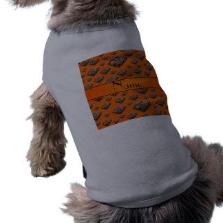 Brownie anaranjados conocidos personalizados camiseta sin mangas para perro