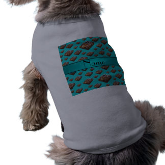 Brownie conocidos personalizados de la turquesa camiseta sin mangas para perro