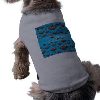 Brownie conocidos personalizados del azul de cielo camiseta sin mangas para perro