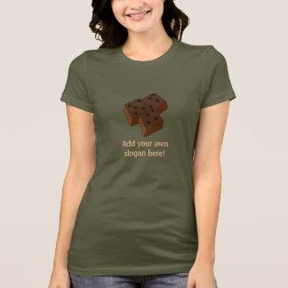 Brownie del chocolate: Lema adaptable Camiseta