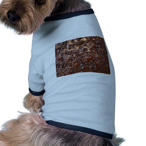 Brownie del microprocesador de chocolate ropa perro