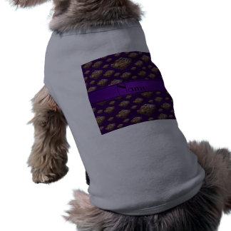 Brownie púrpuras conocidos personalizados camiseta sin mangas para perro