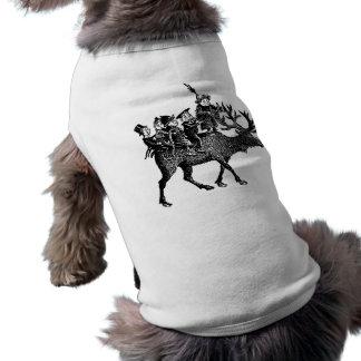 Brownie que montan el reno camisetas mascota