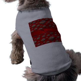 Brownie rojos conocidos personalizados camiseta sin mangas para perro