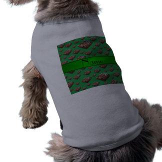Brownie verdes conocidos personalizados camiseta sin mangas para perro