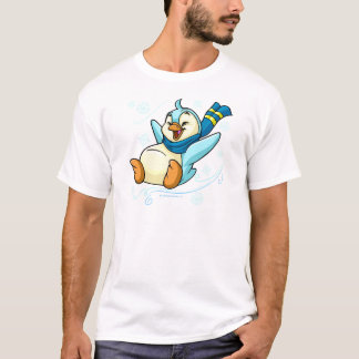 Bruce azul que resbala a través del hielo camiseta