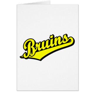 Bruins en amarillo tarjeta de felicitación