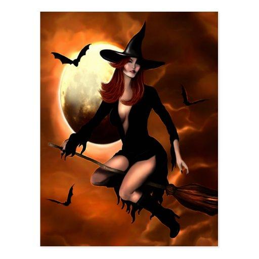 Bruja 2005 de Halloween Postales