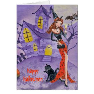 Bruja de Halloween - tarjeta de felicitación