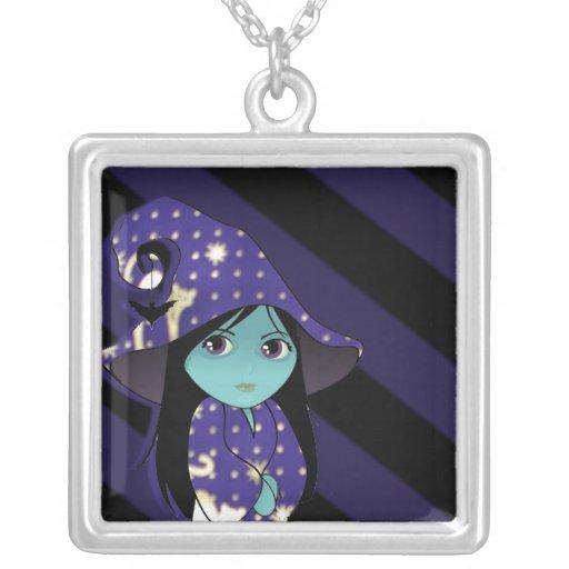Bruja de Lil en traje azul del oro Pendientes Personalizados
