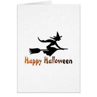 Bruja del feliz Halloween Felicitaciones