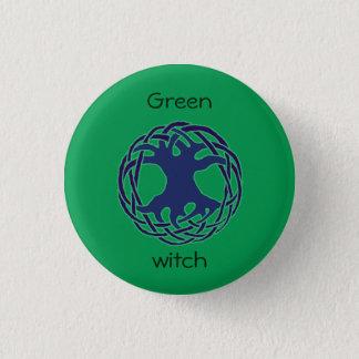 Bruja verde chapa redonda de 2,5 cm