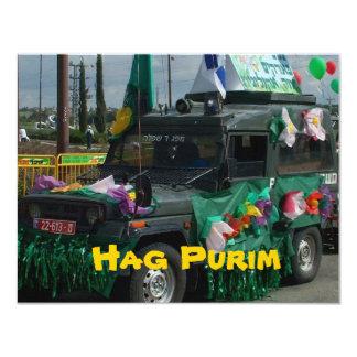 Bruja vieja Purim - el Carnaval judío en Israel Invitación 10,8 X 13,9 Cm