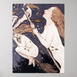 Brujas del vintage - Walpurgis de Adolfo Munzer Póster