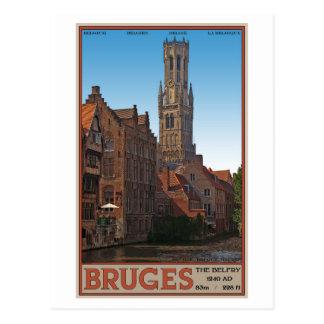 Brujas - el campanario postal