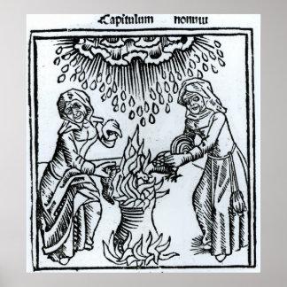 Brujas que hacen un encanto, 1489 póster