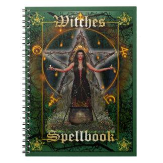 Brujas Spellbook - elemento de la tierra (cubierta Libros De Apuntes Con Espiral