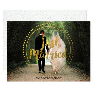 Brunch casado del boda del poste de la foto el | invitación 11,4 x 15,8 cm