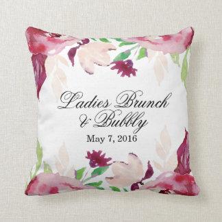 Brunch de las señoras y burbujeante cojín decorativo