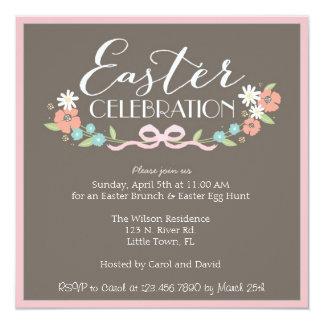Brunch de Pascua Invitación 13,3 Cm X 13,3cm