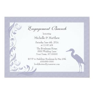 Brunch del compromiso del Egret/de la garza Invitación Personalizada