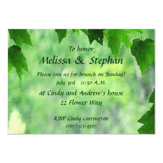 Brunch frondoso del boda invitación 12,7 x 17,8 cm