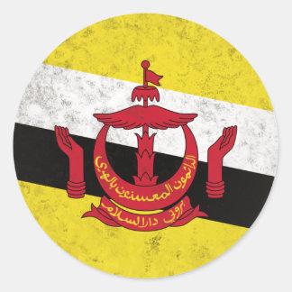 Brunei Pegatina Redonda