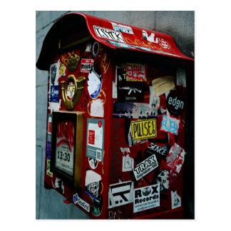 Bruselas: ¿Caja o buzón del pegatina? Postal