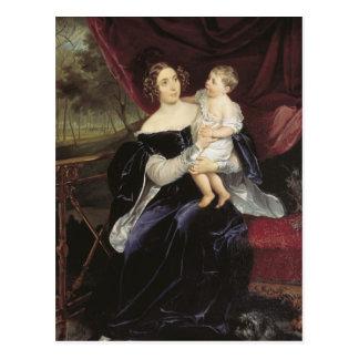 Bryullov-Retrato de Karl de la condesa y de su hij Postal