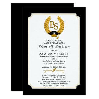 BS - Graduación de la universidad del licenciado Invitación 12,7 X 17,8 Cm