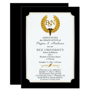 BS - Graduación del oficio de enfermera de la Invitación 12,7 X 17,8 Cm