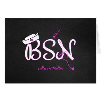 BSN personalizados le agradecen cardan, graduación Tarjeta Pequeña