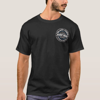 BT0035 - Camiseta negra de la cera de la resaca