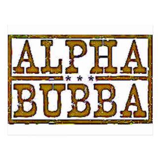 Bubba alfa tarjeta postal