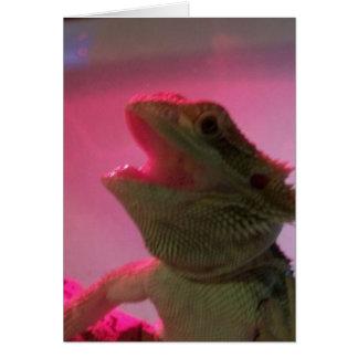 Bubba el dragón barbudo tarjeta de felicitación