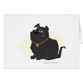Bubba el laboratorio gordo le agradece cardar tarjeta pequeña