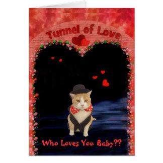 Bubba en el túnel del amor tarjeta de felicitación