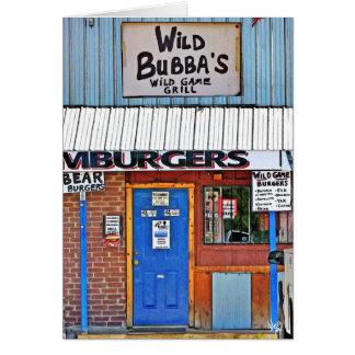 Bubba salvaje en Elroy, TX Tarjetón