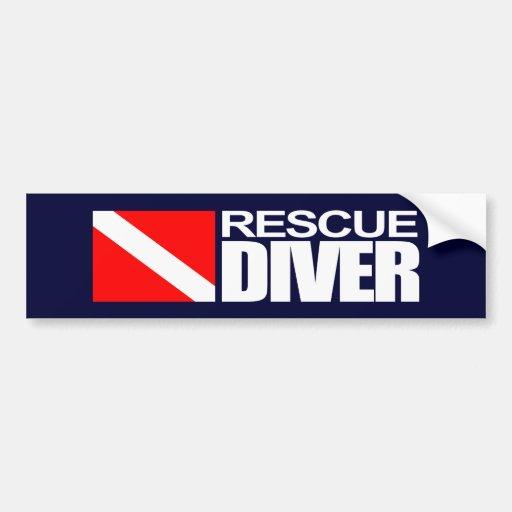 Buceador 4 Bumpersticker del rescate Etiqueta De Parachoque